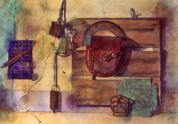 El Cuadro de Aurelio, watercolor on Arches paper