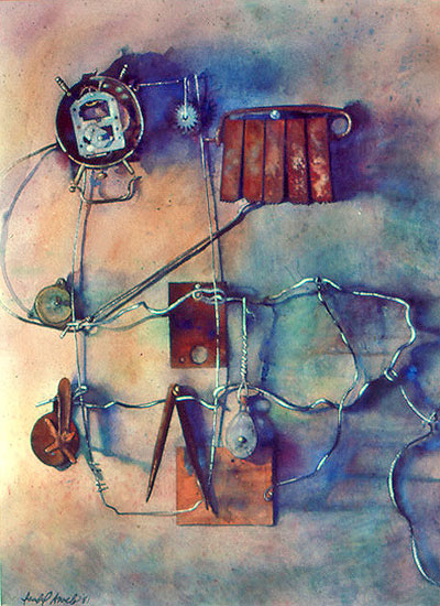 Clock, watercolor on Arcches paper