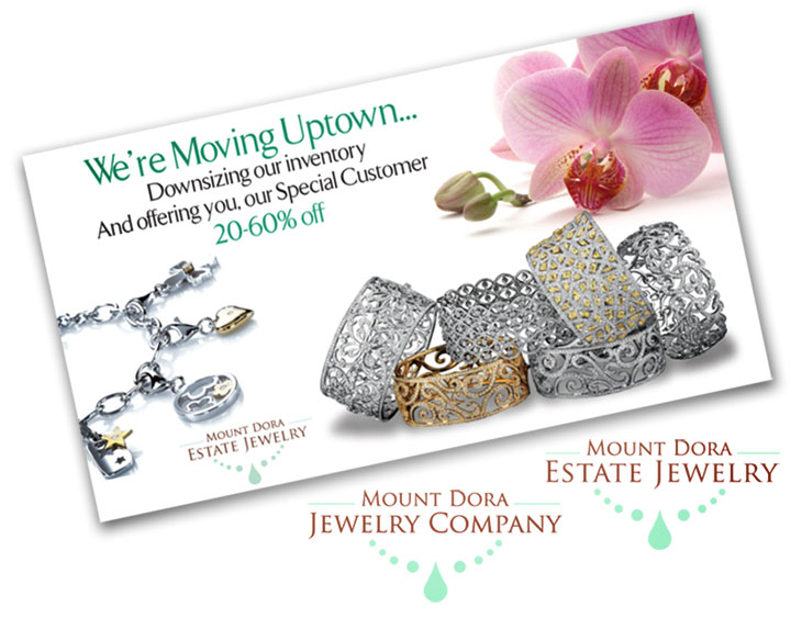 mount dora jewelry branding samples