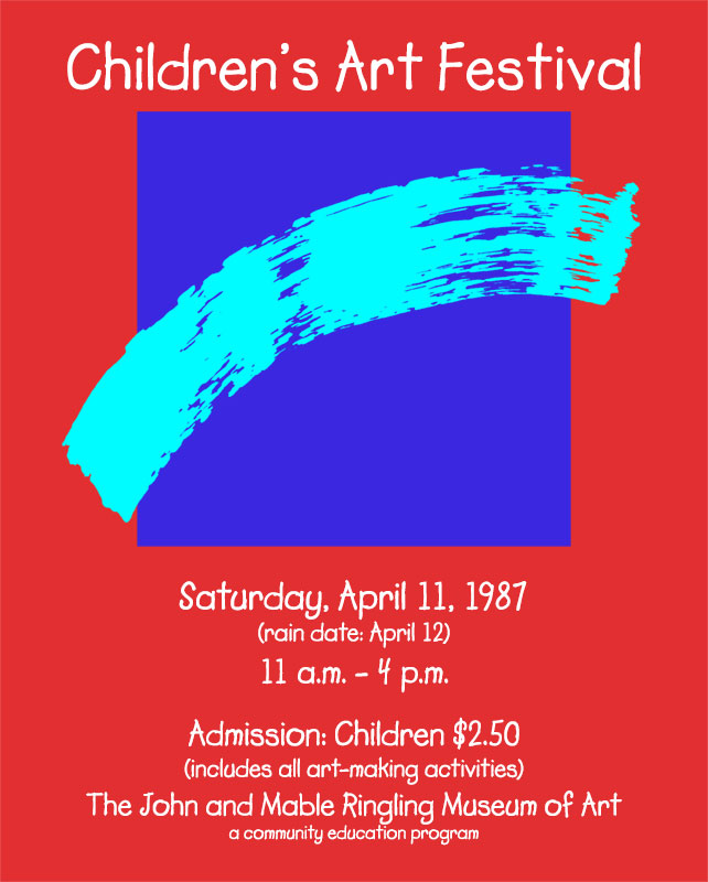 Children's Art Festival Poster Ringling Museum of Art 1987