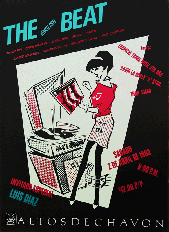 The English Beat concert poster Altos de Chavon 1983