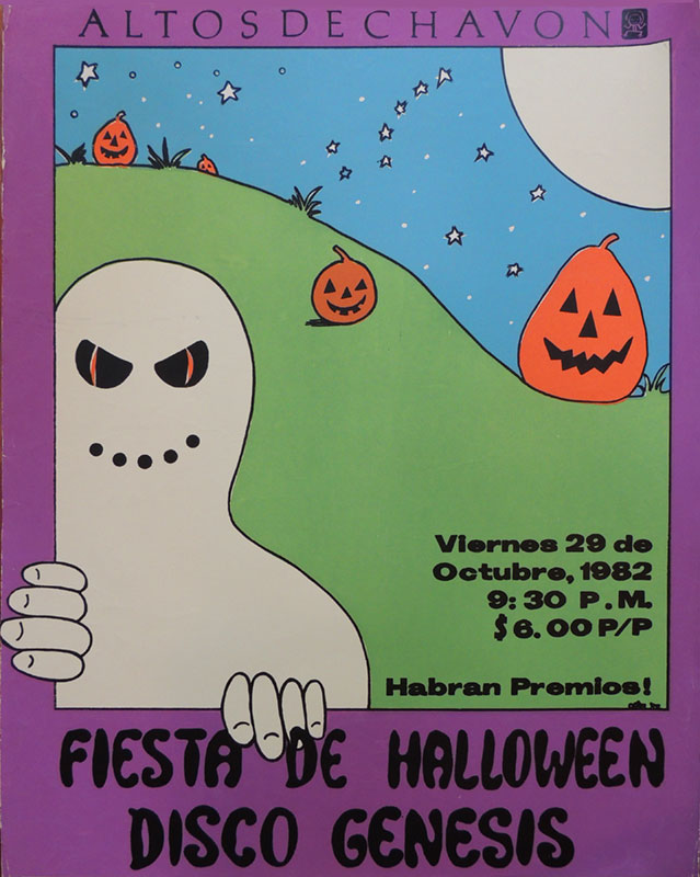halloween party poster altos de chavon 1982