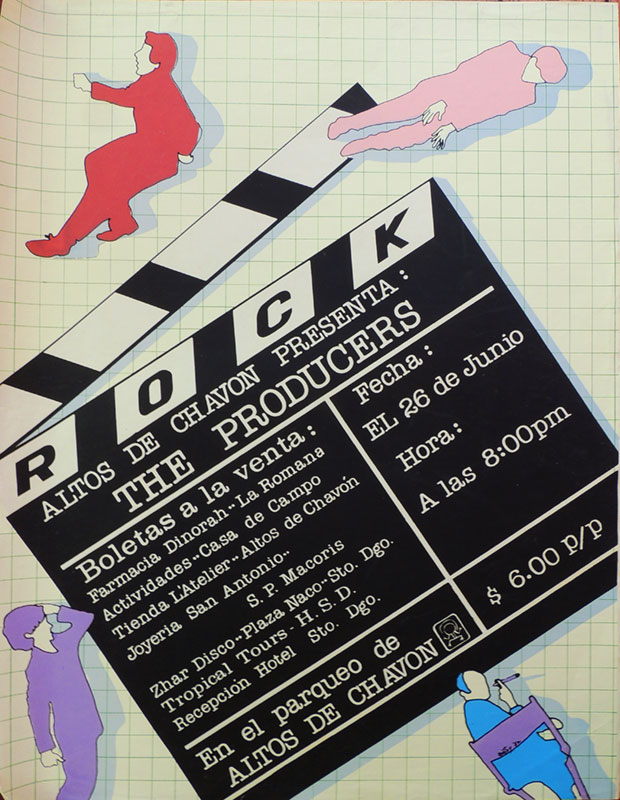 The producers concert poster 1982