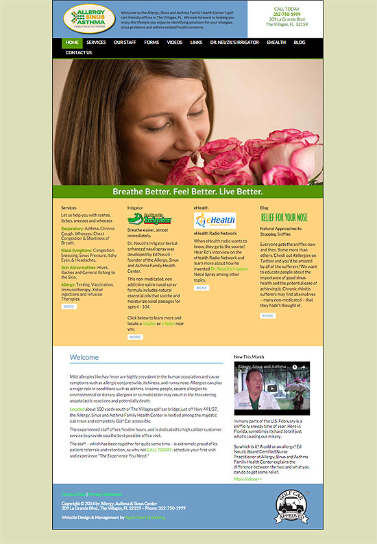 allergy sinus website