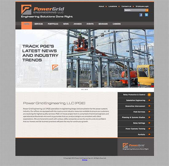 Power Grid Engineering website
